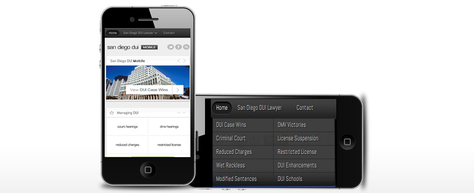 mobile web design example