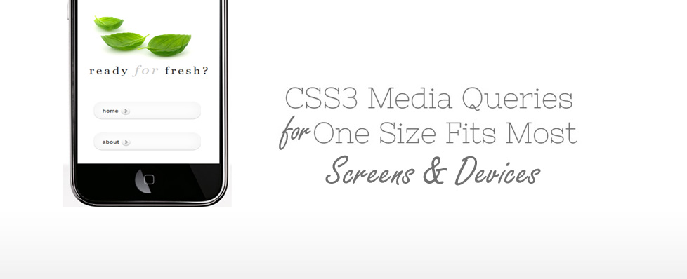 CSS3 Media Queries for Multiple Screen Sizes